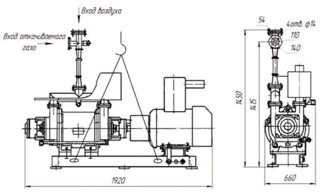 Агрегат вакуумный водокольцевой АВВ-12 Агрегат вакуумный водокольцевой АВВ-6 четреж