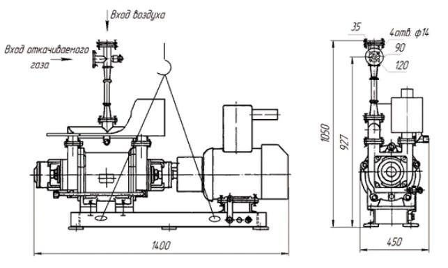 Агрегат вакуумный водокольцевой АВВ-6 четреж