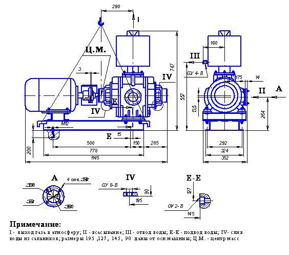 НАСОС ВАКУУМНЫЙ ВОДОКОЛЬЦЕВОЙ ВВН1-3 - цена, заказать Насосное оборудование отечественное