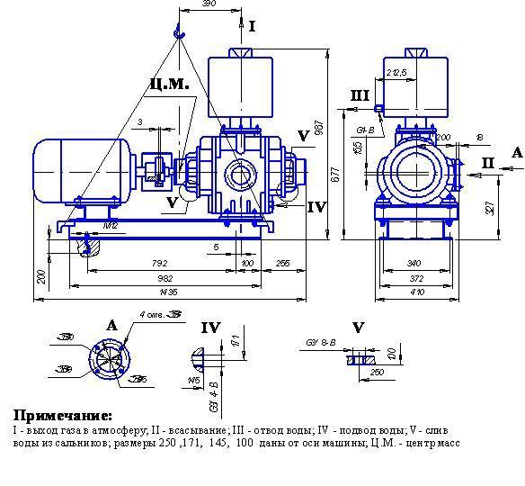НАСОС ВАКУУМНЫЙ ВОДОКОЛЬЦЕВОЙ ВВН1-6 - цена, заказать Насосное оборудование отечественное