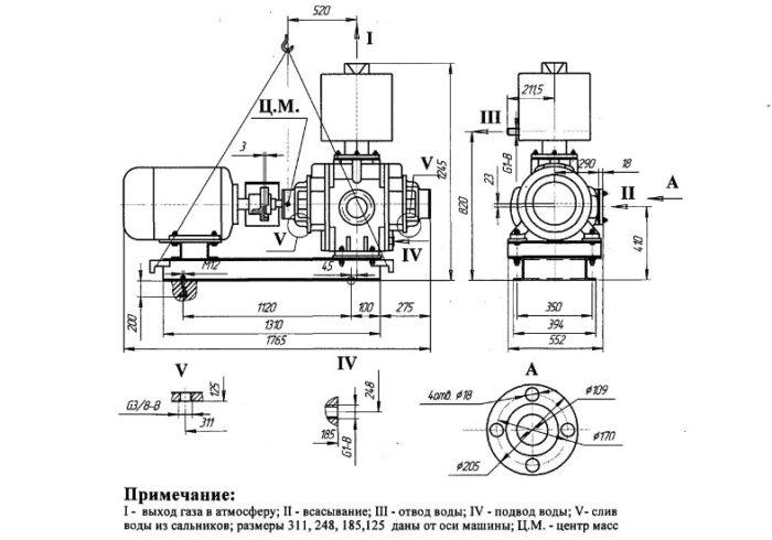 НАСОС ВАКУУМНЫЙ ВОДОКОЛЬЦЕВОЙ ВВН1-12 - цена, заказать Насосное оборудование отечественное