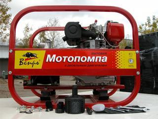 Дизельная пожарная мотопомпа Вепрь МП 120 ДЯ - цена, заказать Насосное оборудование отечественное