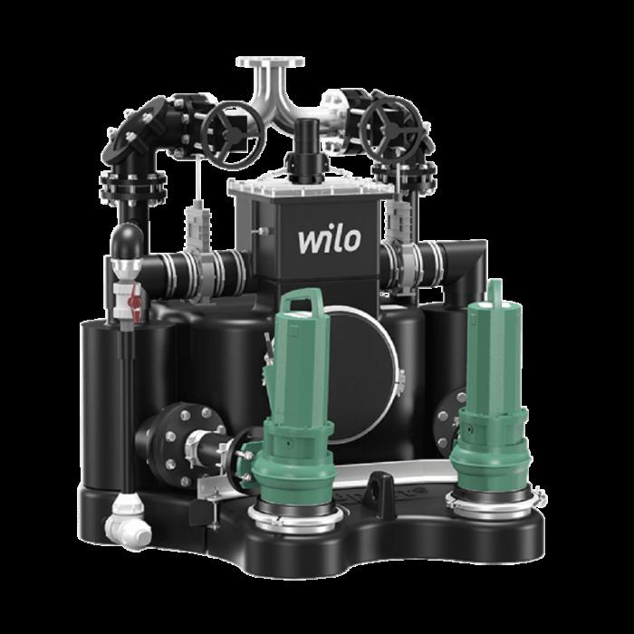 Стандартизированная напорная установка для отвода сточных вод с системой сепарации твердых веществ Wilo EMUport CORE 45.2-13A - цена, заказать Насосная установка для отвода сточных вод Wilo