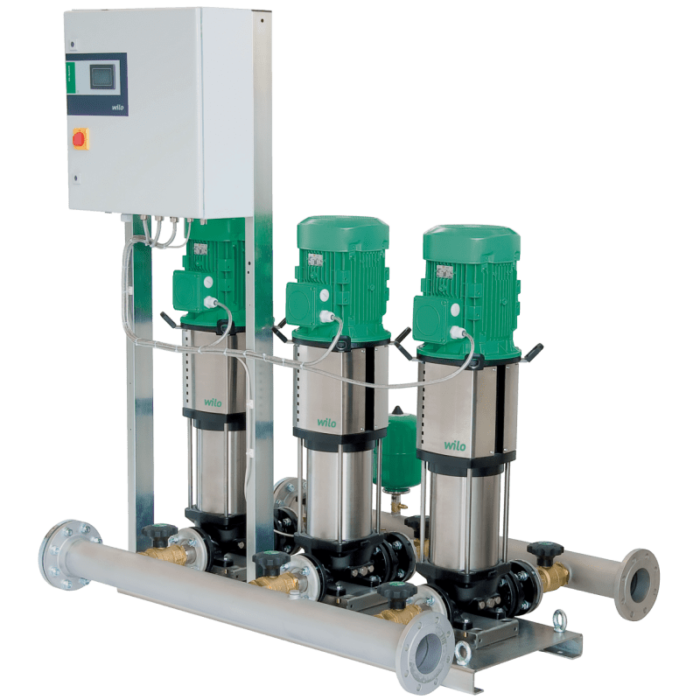 Насосная станция Wilo Comfort COR-2 Helix V 1009/K/CC - цена, заказать Установки повышения давления Wilo