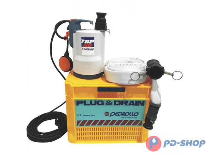 Комплект для откачки воды Pedrollo Plug&Drain - TOP 2 FLOOR - цена, заказать Дренажные погружные насосы Pedrollo