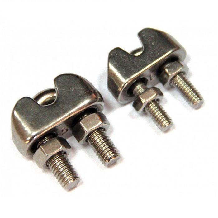 Зажим (хомут) для троса Unipump 4 мм - цена, заказать Комплектующие и аксессуары Unipump
