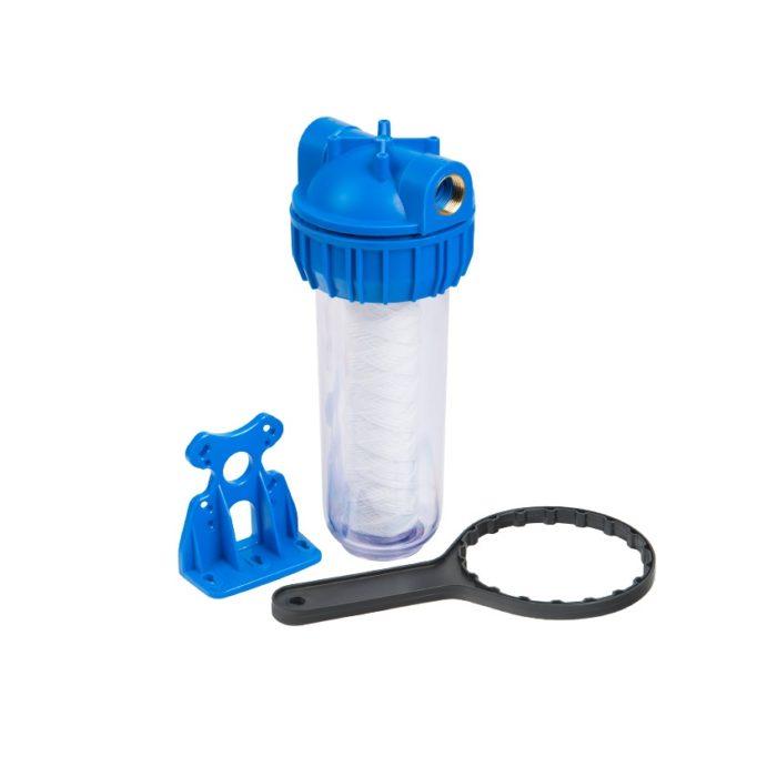 """Колба фильтра для воды 5"""" Unipump CFC-5K (резьба 1"""") с картриджем NT-5 - цена, заказать Фильтры-колбы магистральные Unipump"""
