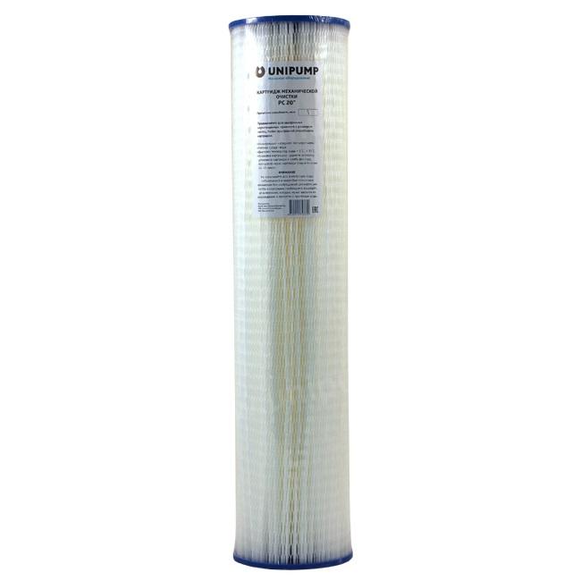 """Картридж механической очистки Unipump РС 20"""" (50 мкм) Big Blue - цена, заказать Картриджи фильтрации Unipump"""