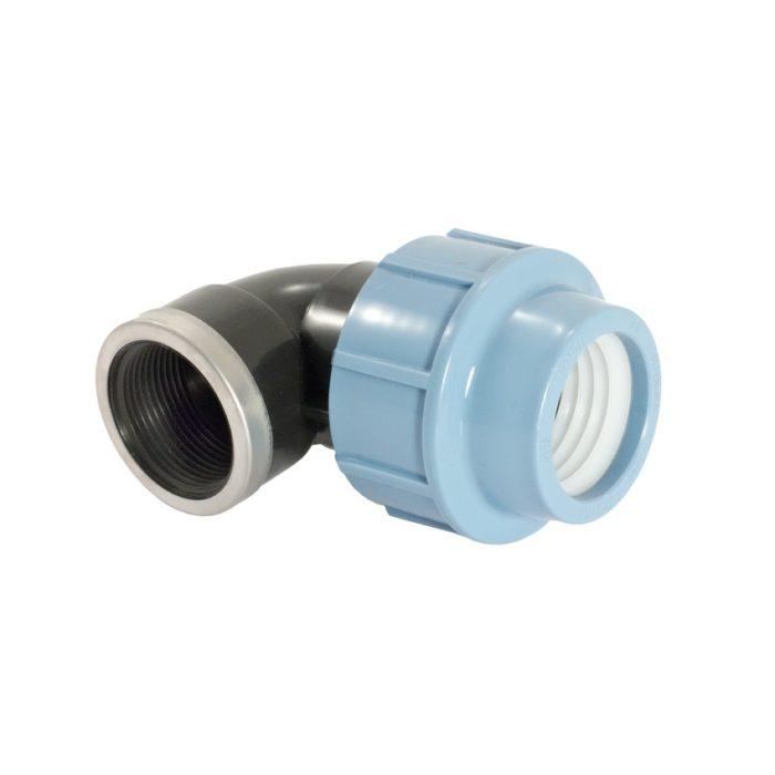 """Отвод Unipump 90 с внутренней резьбой TM 265010 20х1/2"""" - цена, заказать Фитинги ПНД Unipump"""