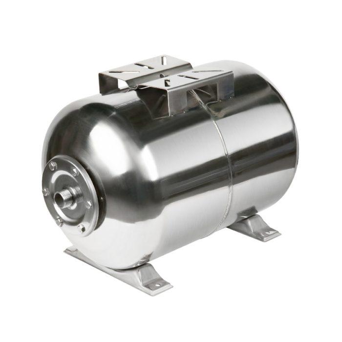 Гидроаккумулятор Unipump 50 л (горизонтальный), нержавеющая сталь - цена, заказать Гидроаккумуляторы Unipump
