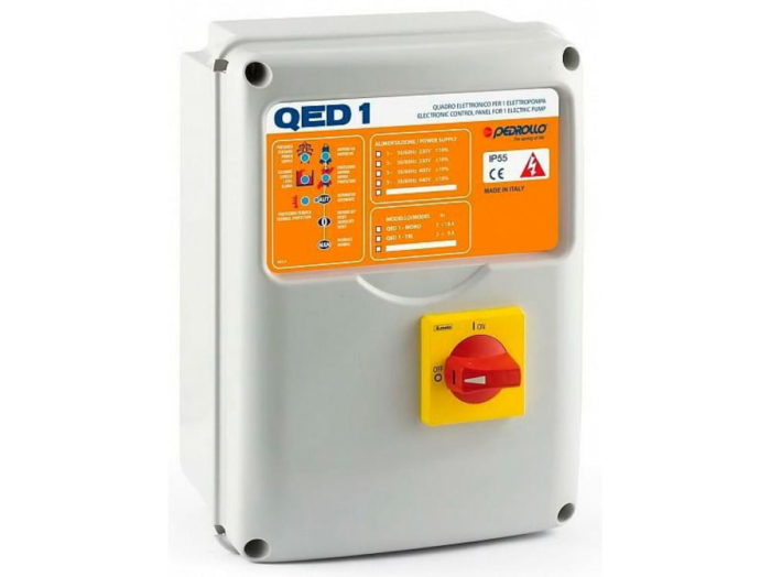 Электронная плата Pedrollo QED 2-TRI - цена, заказать Управление насосами Pedrollo