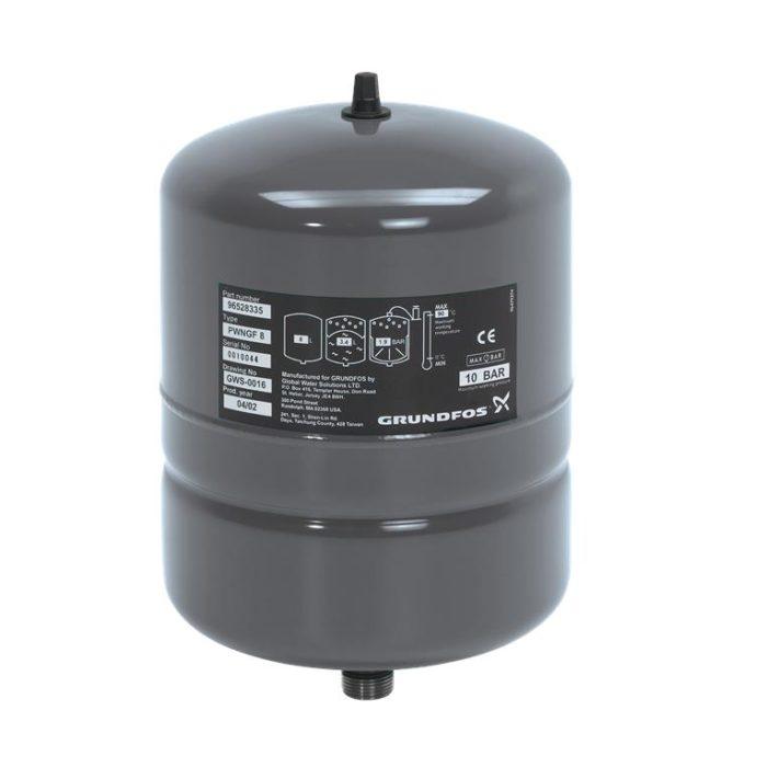 Мембранный бак Grundfos GT-H-8L V PN10 - цена, заказать Мембранные напорные баки