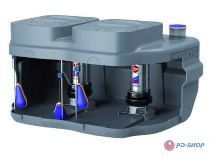 Станция насосная канализационная Pedrollo SAR 550 - VXm 10/50-ST 10м - цена, заказать Станции накопления и подъема сточных вод Pedrollo