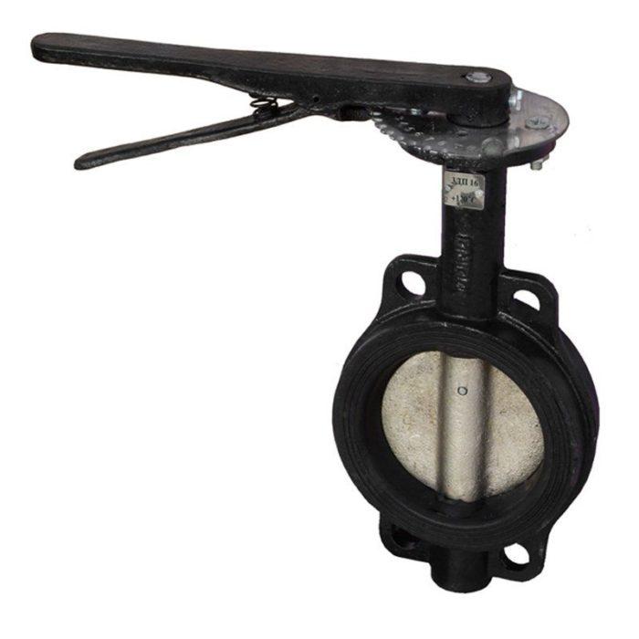 Затвор чугунный с чугунным диском и уплотнением EPDM Ду 200 PN 16 ручной - цена, заказать Трубопроводная арматура