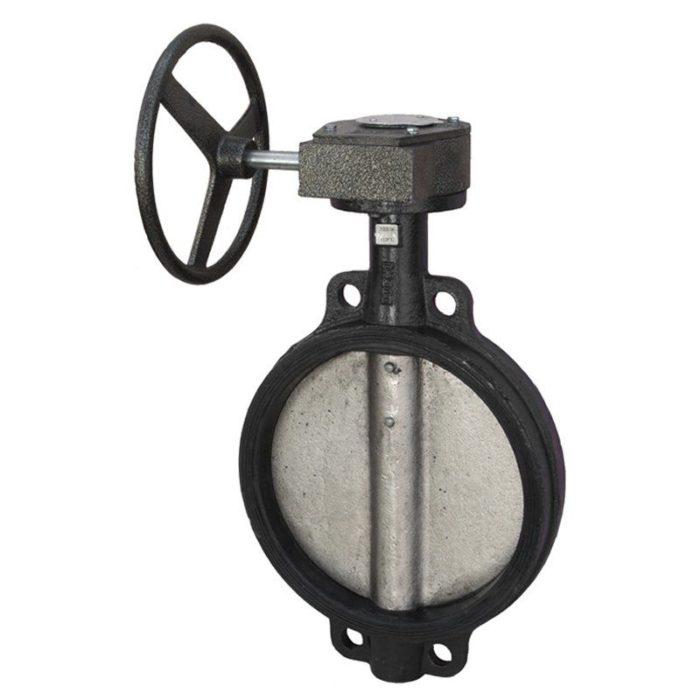 Затвор чугунный с чугунным диском и уплотнением EPDM Ду 500 PN 16 с редуктором - цена, заказать Трубопроводная арматура