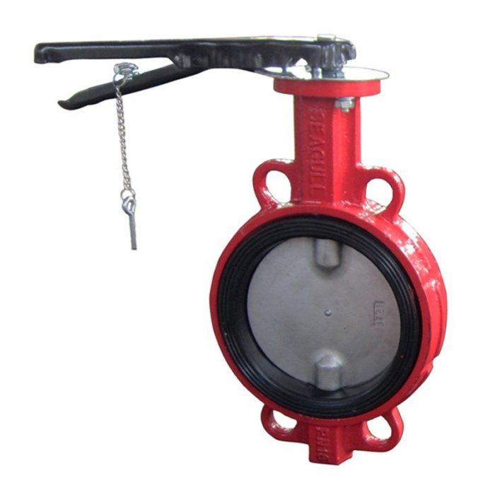 Затвор чугунный с нержавеющим диском и уплотнением EPDM Ду 125 PN 16 ручной - цена, заказать Трубопроводная арматура
