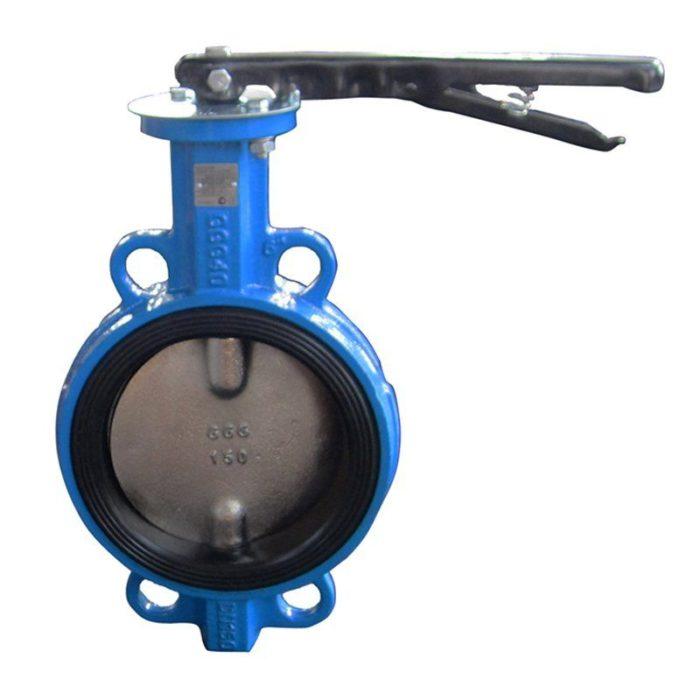 Затвор чугунный с чугунным диском и уплотнением EPDM Ду 125 PN 16 ручной - цена, заказать Трубопроводная арматура