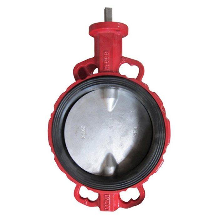 Затвор чугунный с нержавеющим диском и уплотнением EPDM Ду 250 PN 16 шток - цена, заказать Трубопроводная арматура