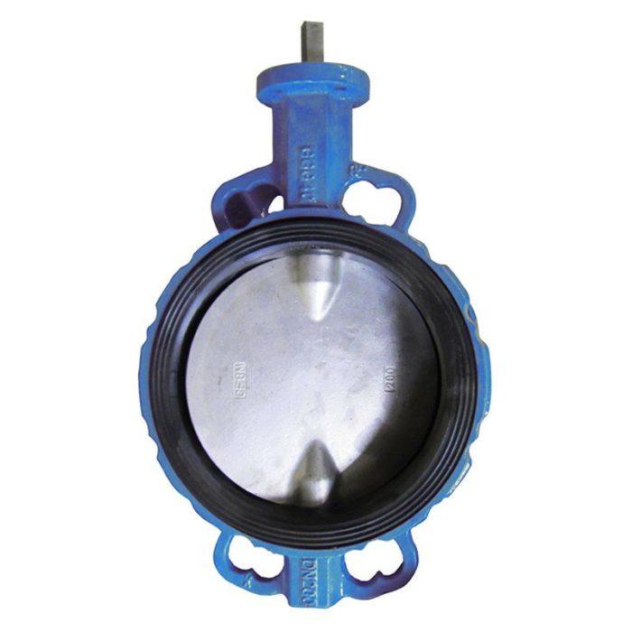 Затвор чугунный с чугунным диском и уплотнением NBR Ду 200 PN 16 шток - цена, заказать Трубопроводная арматура