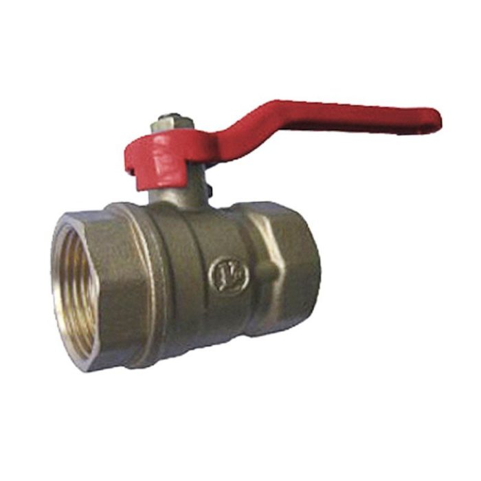 Кран латунный шаровый однотипный 11Б27п1 Ду 50 PN 16, рычаг, муфта-муфта - цена, заказать Трубопроводная арматура