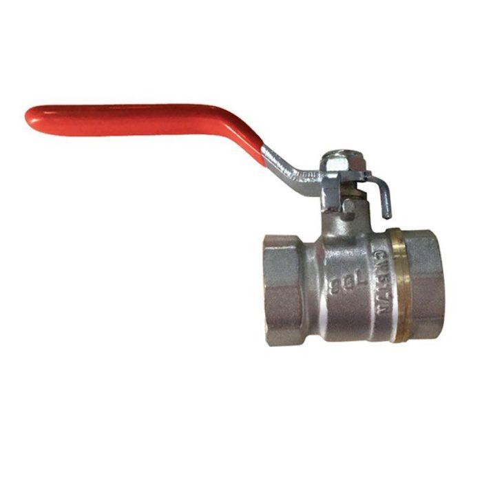 Кран латунный шаровый комбинированный Ду 40 PN25 рычаг, муфта-муфтаprof - цена, заказать Трубопроводная арматура