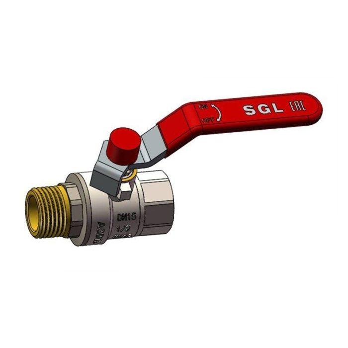 Кран латунный шаровый комбинированный Ду 40 PN25 рычаг муфта-штуцер полный проход - цена, заказать Трубопроводная арматура