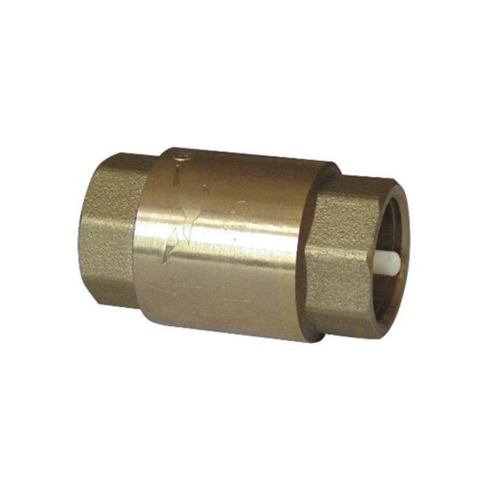 Клапан латунный обратный пружинный Ду 100 PN 10 муфтовый пластиковый шток - цена, заказать Трубопроводная арматура