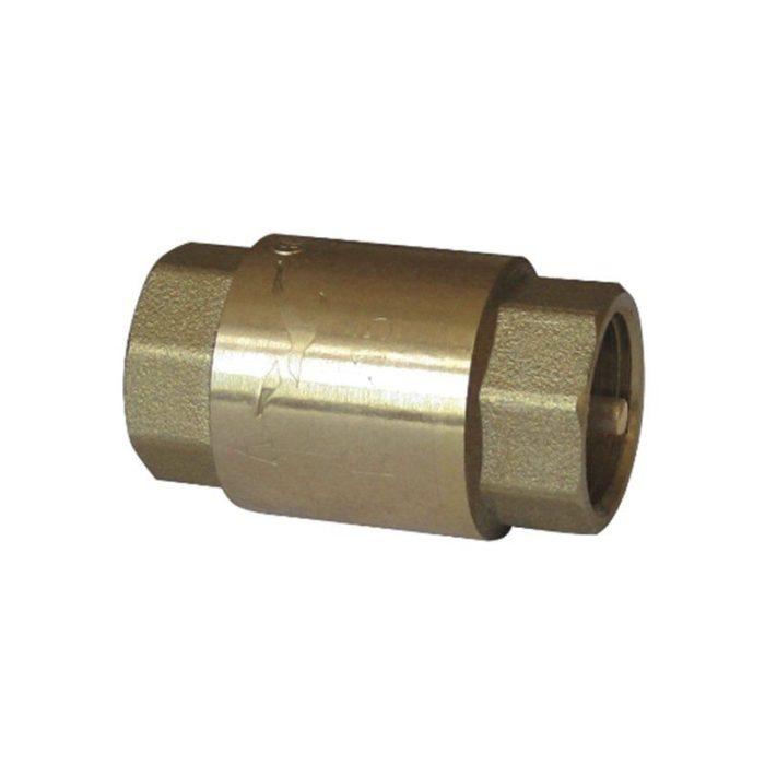 Клапан латунный обратный пружинный Ду 32 PN 10 муфтовый латунный шток - цена, заказать Трубопроводная арматура
