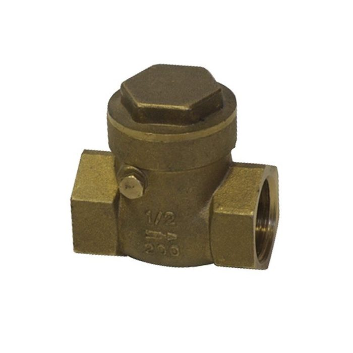 Клапан латунный обратный поворотный Ду 15 PN 16 муфтовый - цена, заказать Трубопроводная арматура