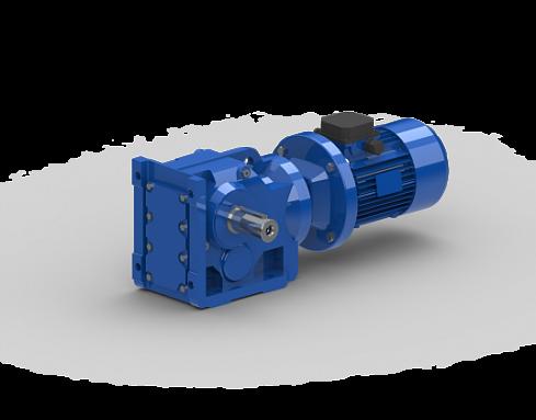 Коническо-цилиндрический мотор-редуктор K107 - цена, заказать Редукторы, мотор-редукторы