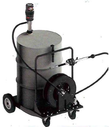 Комплект с насосом 5.5:1 для бочки 200 л на тележке и катушкой - цена, заказать Маслораздаточное оборудование Piusi