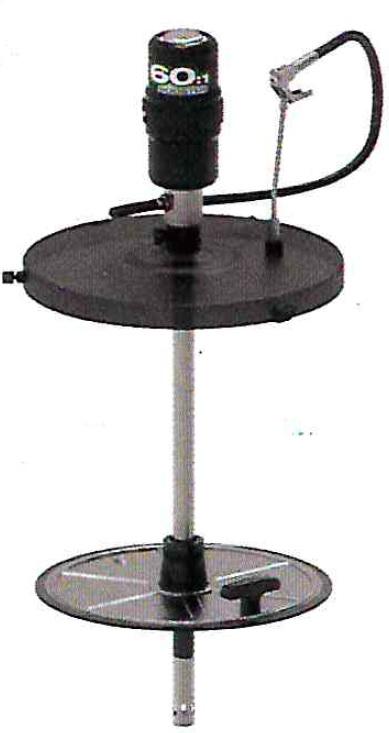 Пневматический солидолонагнетатель с насосом 60:1 для бочек 185 кг - цена, заказать Нагнетатели густых смазок Piusi