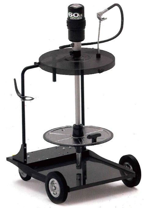 Мобильный пневматический солидолонагнетатель с насосом 60:1 для бочек 185 кг на телеге - цена, заказать Нагнетатели густых смазок Piusi