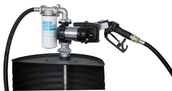 Drum EX50 12V ATEX - Бочковой ком-кт для бензина: э/насос, фильтр, авт. пист, 50 л/мин (без кабеля) - цена, заказать Топливораздаточные модули Piusi