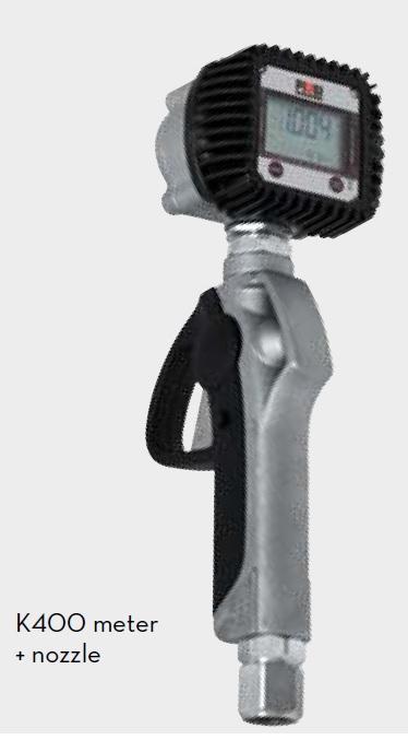 K400 пистолет со счетчиком для масла, 1/2'' BSP - цена, заказать Пистолеты и расходомеры Piusi
