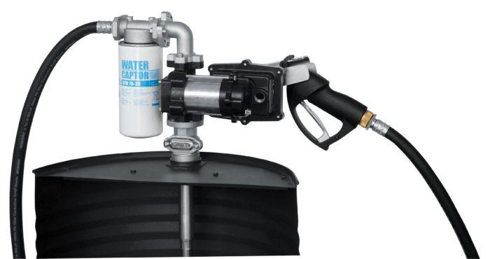 Drum EX50 12V ATEX - Бочковой ком-кт для бензина: э/насос, фильтр, мех.пист., каб. питания, 50 л/мин - цена, заказать Топливораздаточные модули Piusi