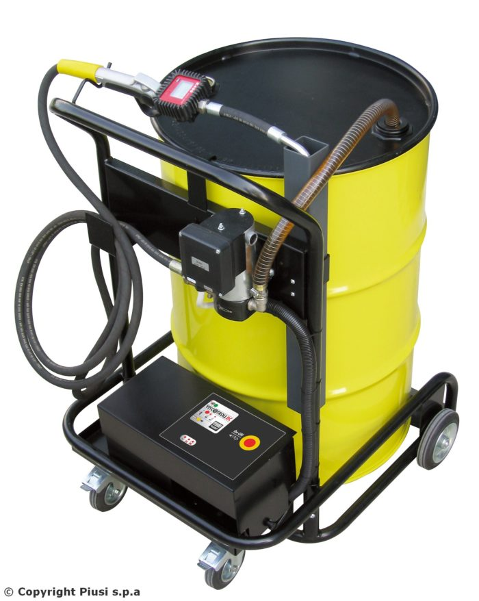 Viscotroll 120/1 12V PST K400 - Электрический маслораздаточный комплекс с реле давления - цена, заказать Маслораздаточное оборудование Piusi