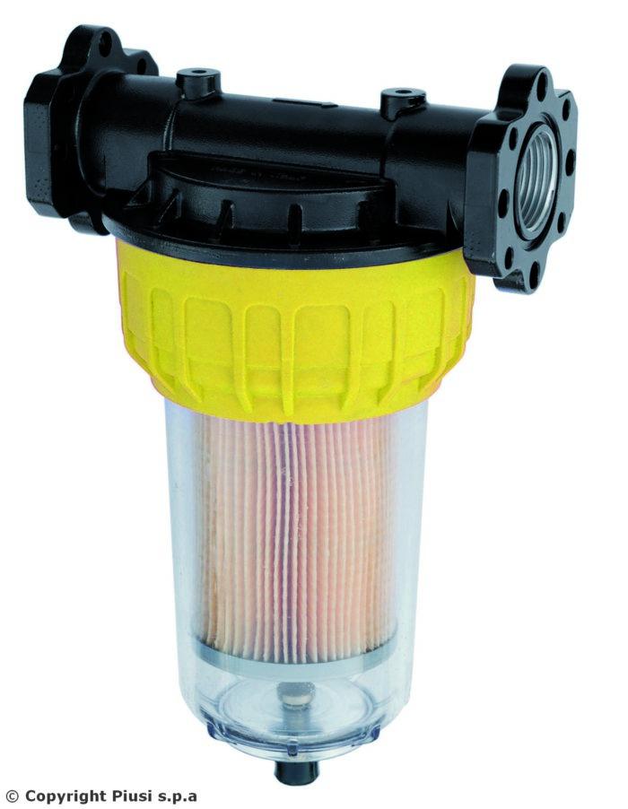 Фильтр для очистки от мех.примесей и воды 70 л/мин. 2 карт. - цена, заказать Фильтры Piusi