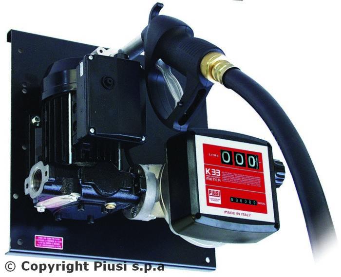 ST E 120/M K33 - Высокопроизводительная перекачивающая станция для дизельного топлива с расходомером - цена, заказать Топливораздаточные модули Piusi
