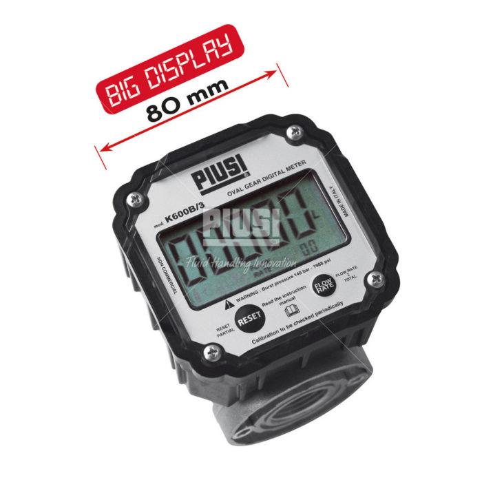 K600 B/3 oil 3/4 - электронный расходомер - цена, заказать Счетчики Piusi